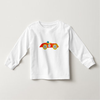 Little Red Roadster Racing Car Child 1st Birthday Toddler T-shirt