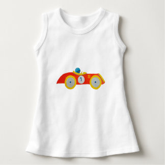Little Red Roadster Racing Car Child 1st Birthday Tshirts