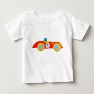 Little Red Roadster Racing Car Child 1st Birthday T-shirts