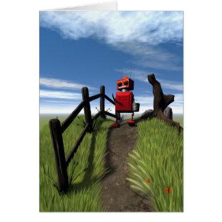 Little Red Robot Card