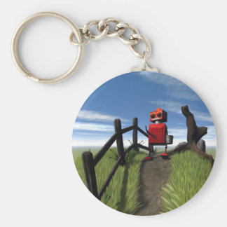 Little Red Robot Keychain