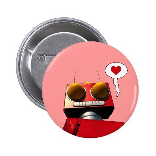 Little Red Robot Love Button