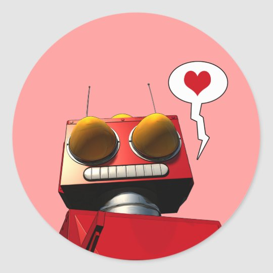 Little Red Robot Love Sticker