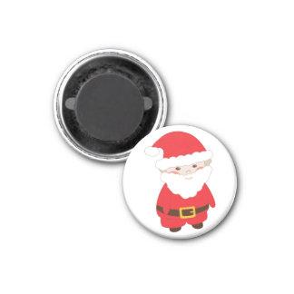 Little Red Santa 1 Inch Round Magnet