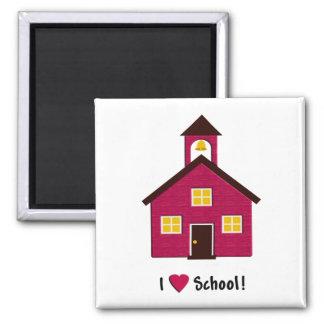 Little Red School House I Love School Magnet