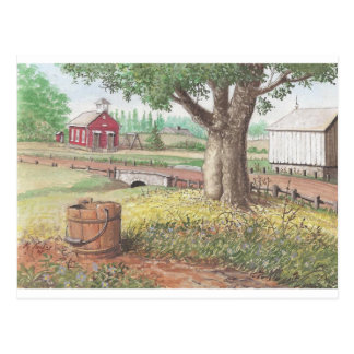 Little Red School House Postcard