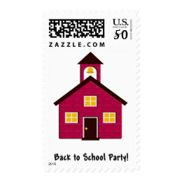 Little Red Schoolhouse Back to School Party Postage