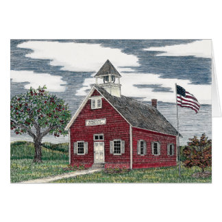Little Red Schoolhouse Blank Note Cards