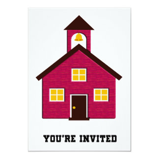 Little Red Schoolhouse Invited 5x7 Paper Invitation Card
