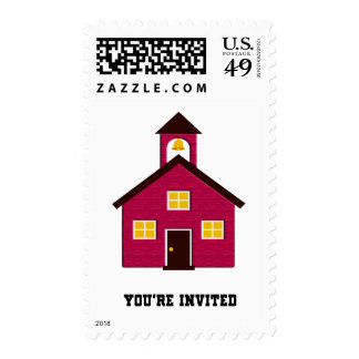 Little Red Schoolhouse Invited Stamp