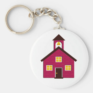 Little Red Schoolhouse Keychain