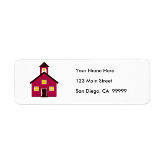 Little Red Schoolhouse Label