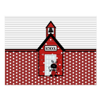 Little Red Schoolhouse Polka Dots Postcard