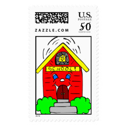 Little Red Schoolhouse Postage