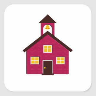 Little Red Schoolhouse Square Sticker