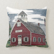 Little Red Schoolhouse Throw Pillow