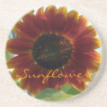 Little Red Sunflower Coasters