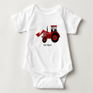 Little Red Tractor Baby Bodysuit