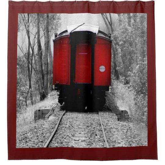 Little Red Train Caboose Shower Curtain   Zazzle.com