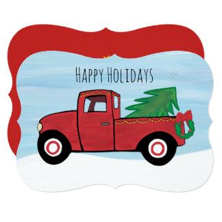 Little Red Truck Christmas Postcard Envelope Inc.