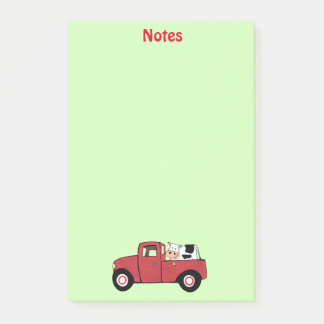 """Little Red Truck Cow 4"""" x 6"""" Post-it® Notes"""