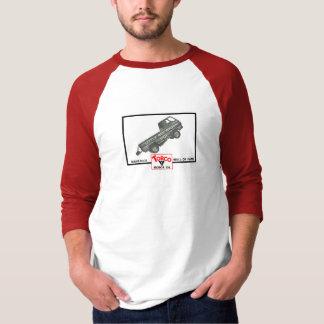 Little Red Wagon 3/4 Sleeve Raglan - Men's T-Shirt