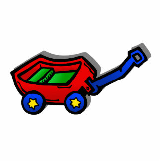 little red wagon acrylic cut outs