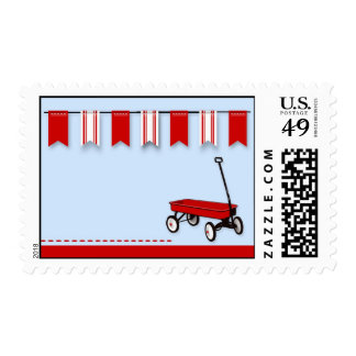 Little Red Wagon Postage Stamps