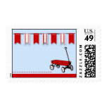 Little Red Wagon Postage Stamp