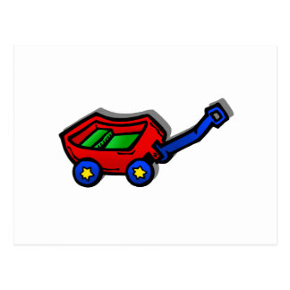 little red wagon postcard