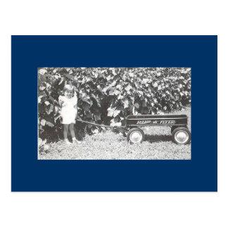 Little Red Wagon Postcard