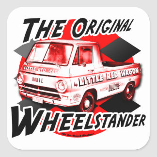 Little Red Wagon Square Sticker
