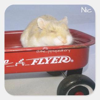 Little Red Wagon! Square Sticker