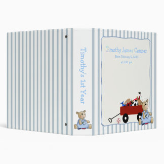 Little Red Wagon Teddy Bear Binder