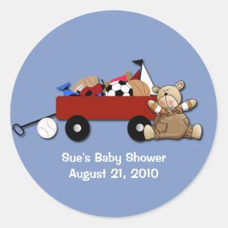 Little Red Wagon Teddy Bear Sports Custom Sticker