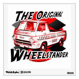 Little Red Wagon. The original wheelstander Wall Graphics
