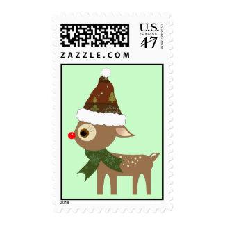 Little Reindeer Postage Stamps
