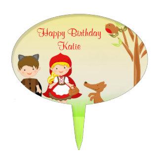 Little Riding Hood Birthday Celebration Cake Topper