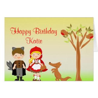 Little Riding Hood Birthday Celebration Greeting Cards