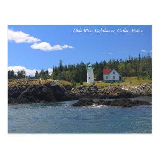 Little River Lighthouse, Cutler Maine Postcard