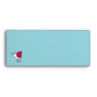 Little Robin blue Letterhead Envelope