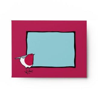 Little Robin blue Note Card Envelope envelope