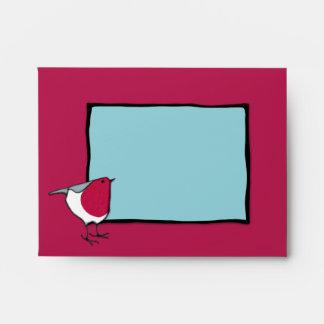 Little Robin blue Note Card Envelope