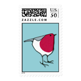 Little Robin blue Stamp