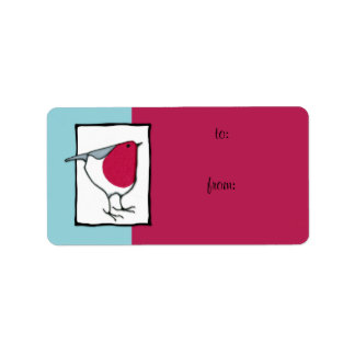 Little Robin Gift Tag Label