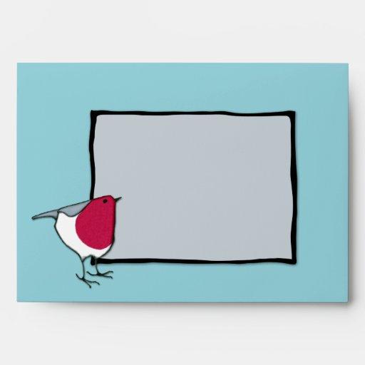 Little Robin grey Card Envelope