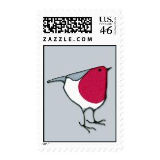 Little Robin grey Stamp stamp