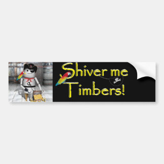 Little Robo-x9 for  Talk Like A Pirate Day Car Bumper Sticker