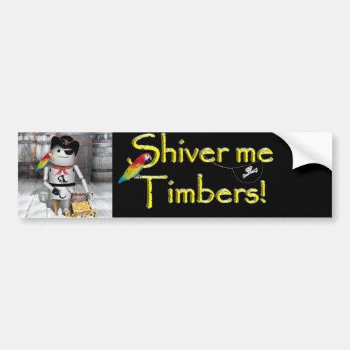 Little Robo-x9 for  Talk Like A Pirate Day Bumper Stickers