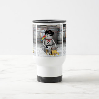 Little Robo-x9 for  Talk Like A Pirate Day 15 Oz Stainless Steel Travel Mug
